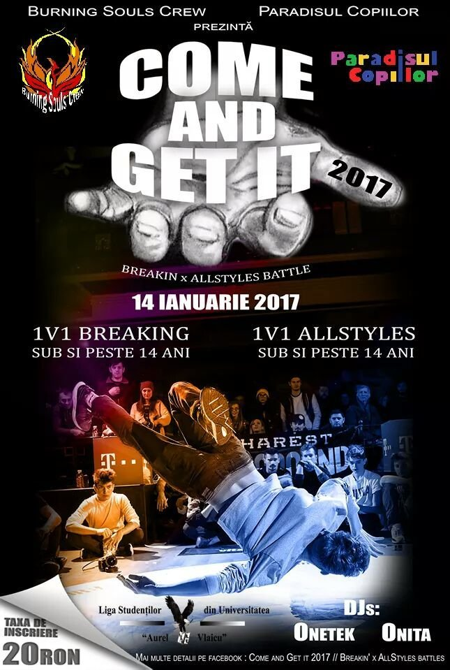 Come and get it. Breakin' x AllStyles battles