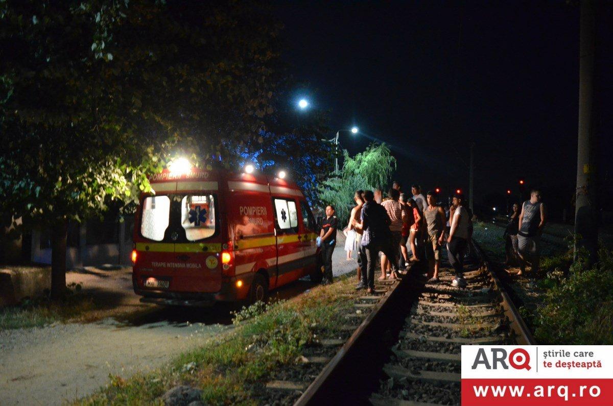 Bărbat tăiat de tren în Aradul Nou