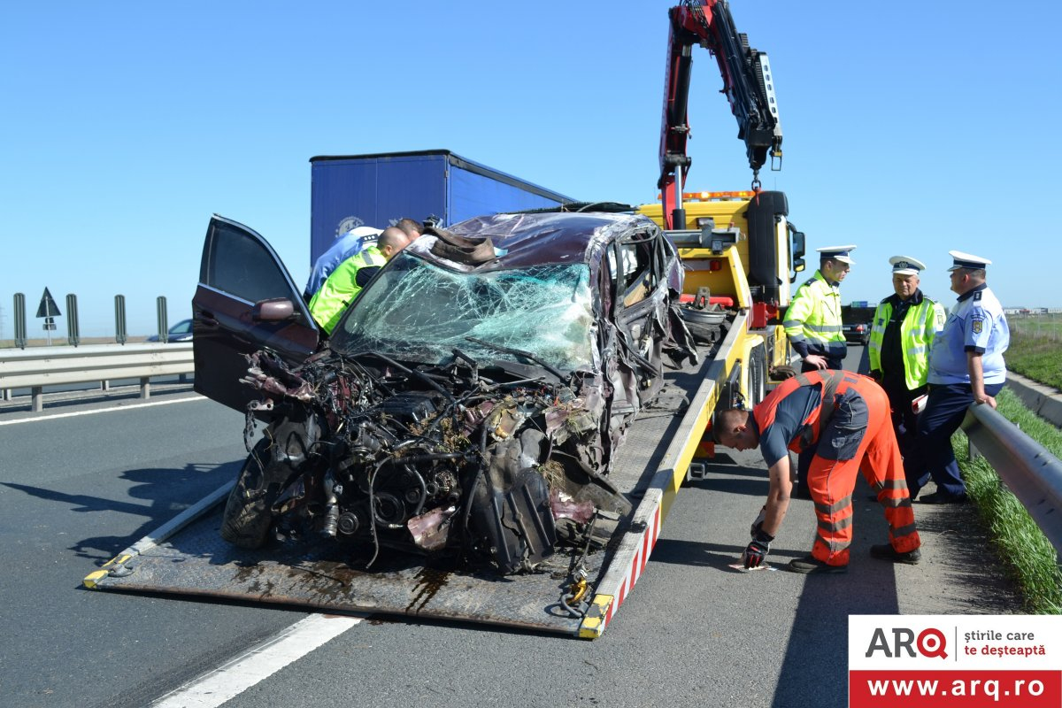 Accident mortal cu BMW pe Autostrada Arad - Timișoara