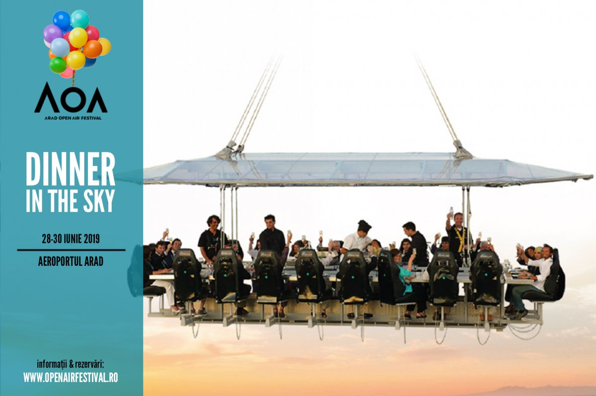 Dinner in the sky @ Arad Open Air Festival (AOA)